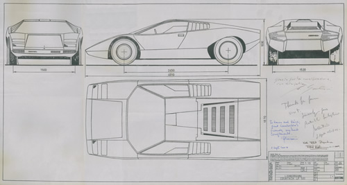 Lamborghini Countach LP500 blueprint